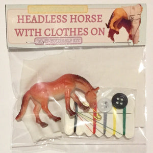 headless horse with clothes on diy art kit