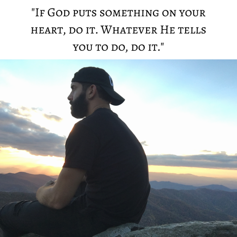 if God tell you to do something, do it. Zack Gudzan - CLTIVATE blog. One day at a time.