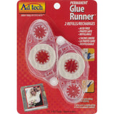 "Ad Tech .31"" x 8.75 yards Permanent Glue Tape Runner Refill 2 pcs./Pkg (For Use With #05620)"