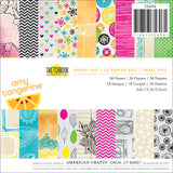 "American Crafts Amy Tangerine Sketchbook 6""x6"" Single-Sided Paper Pad (36 sheets/Pkg)"