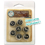 "Bottle Cap inc. .5"" Vintage Edition Alphabet Mini Bottle Caps (26 pcs./Pkg)"