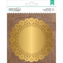 American Crafts DIY Shop 2 Gold Paper Doilies (12 pcs./Pkg)