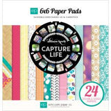 "Echo Park Capture Life 6""x6"" Double-Sided Paper Pad (24 sheets/Pkg)"