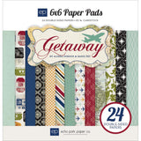 "Echo Park Getaway 6""x6"" Double-Sided Paper Pad (24 sheets/Pkg)"