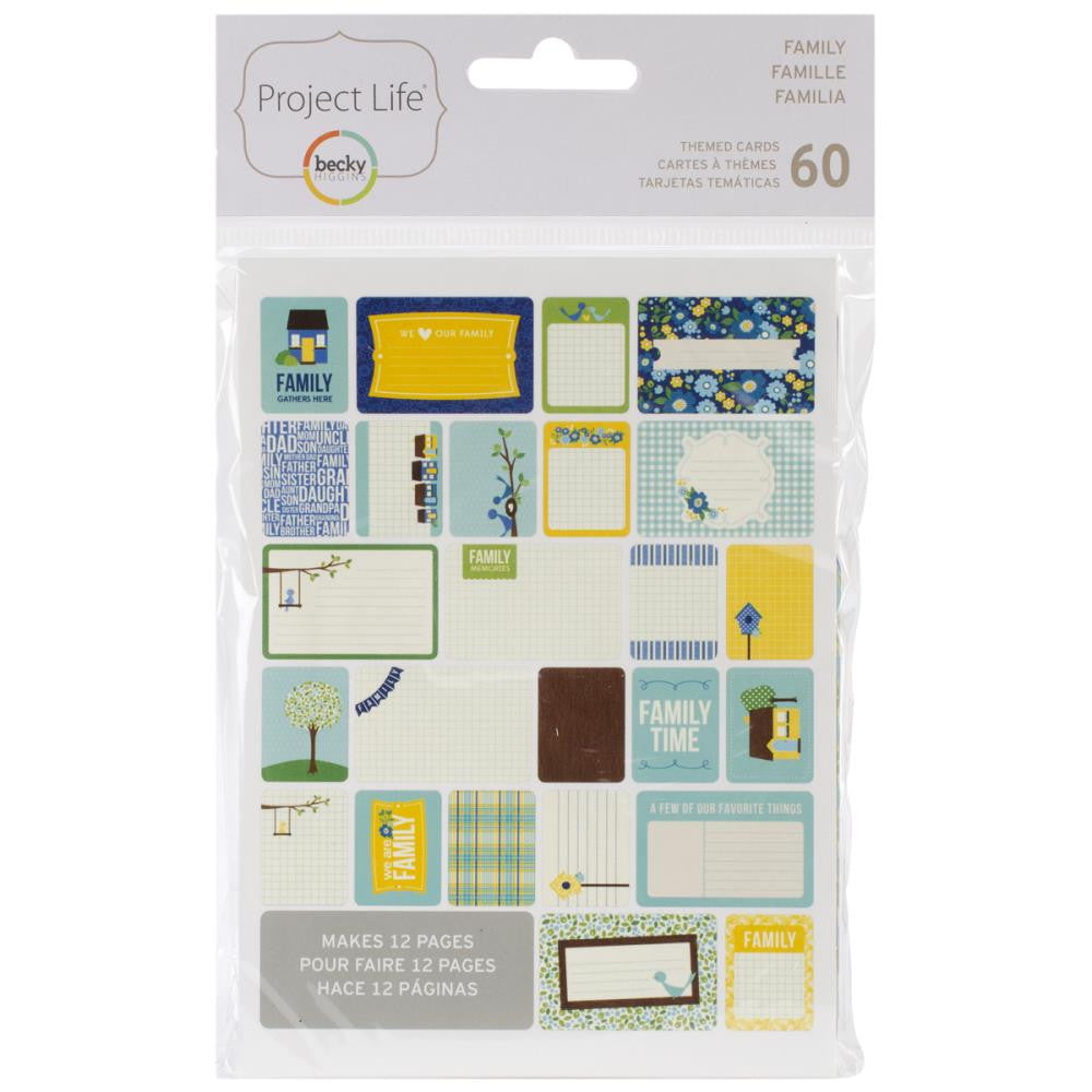 Project Life Family Themed Cards (60 pcs./Pkg)