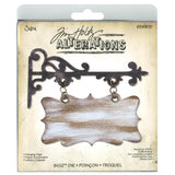 "Sizzix 5.5""x6"" Hanging Sign Bigz Die By Tim Holtz Alterations"