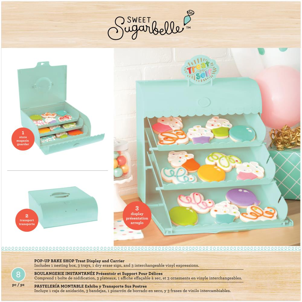 Sugarbelle 8-pc Pop-Up Bake Shop Treat Display and Carrier