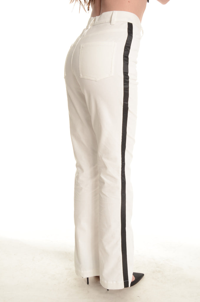 The Jimmy Page Tuxedo Pants - White - Ava Mann