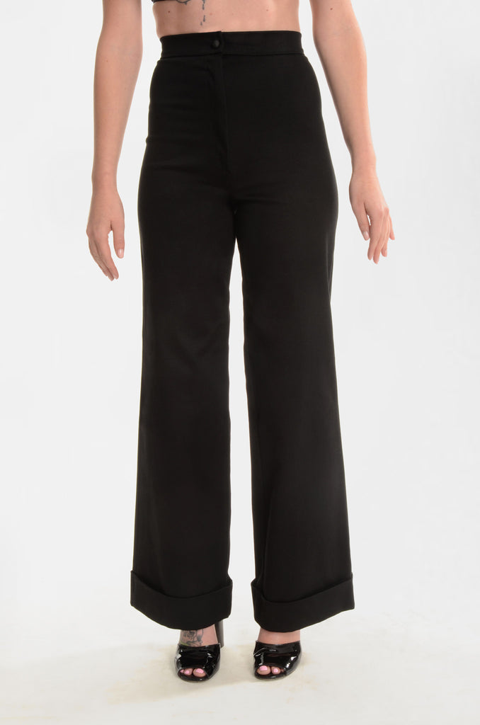 The Back In Black High-Waisted Pants - Ava Mann