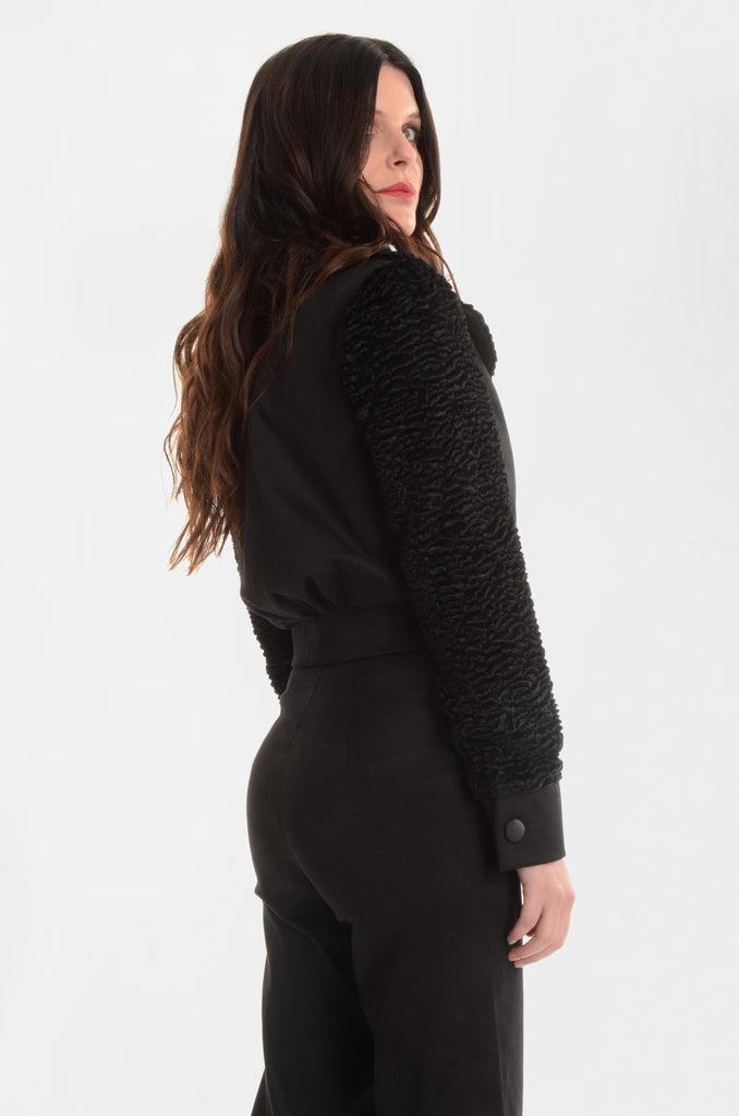 The Back In Black Cropped Jacket - Ava Mann
