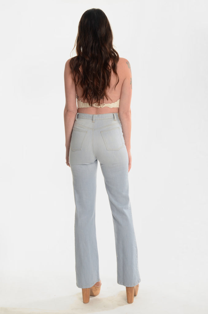 The A&R High-Waisted Denim Pants - Ava Mann