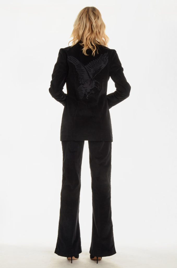 The Jimmy Page Tuxedo Pants - Black - Ava Mann