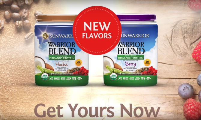 New Warrior Blend flavors are here! Try these Sunwarrior Berry & Mocha Recipes