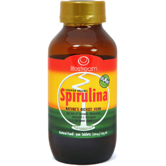 Lifestream Organic Spirulina 500 Tablets