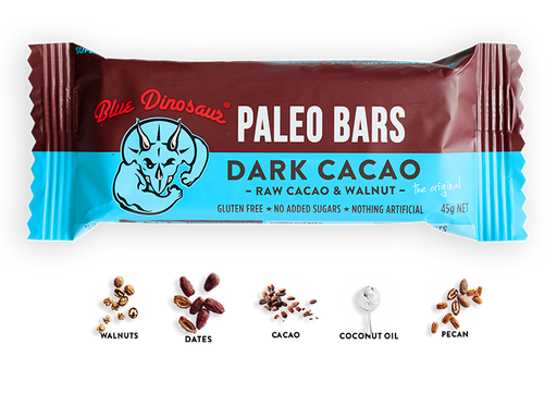 Blue Dinosaur Paleo Bar Dark Cacao 45g