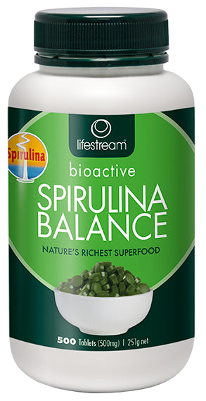 Lifestream Bioactive Spirulina Balance 500 Tablets