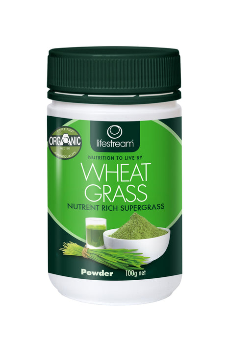 Lifestream Organic Wheat Grass 100g Powder