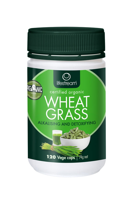 Lifestream Organic Wheat Grass 120 Capsules
