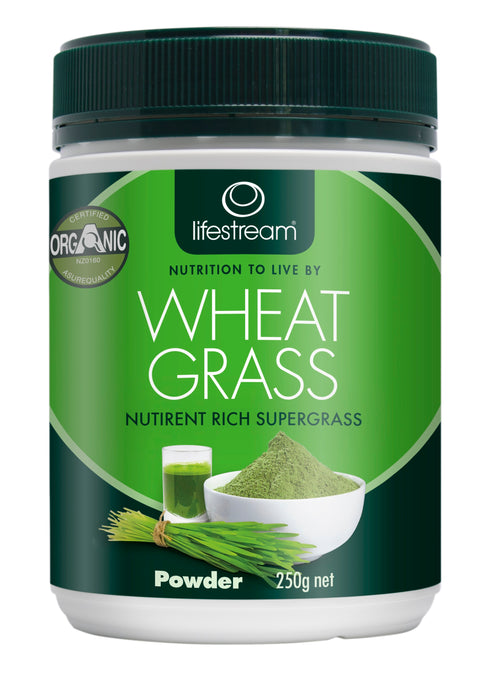 Lifestream Organic Wheat Grass 250g Powder