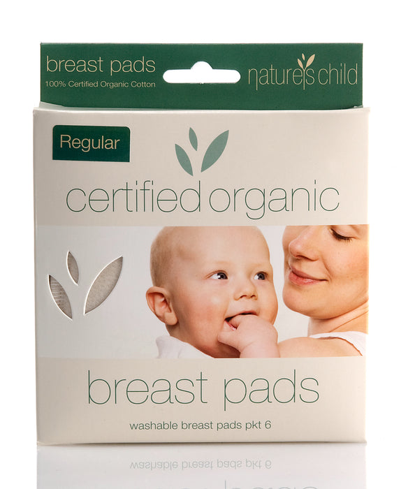 Nature's Child Organic Cotton Reusable Breast Pads Regular Pkt 6