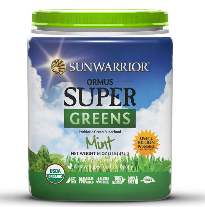 Sunwarrior Ormus Supergreens Peppermint 454g