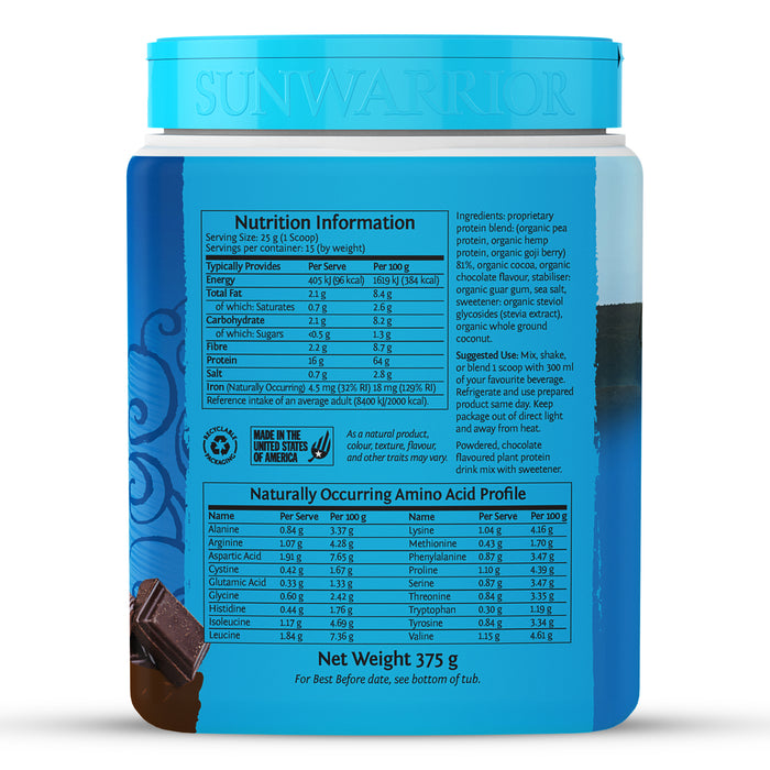 Sunwarrior Warrior Blend Chocolate - 375g