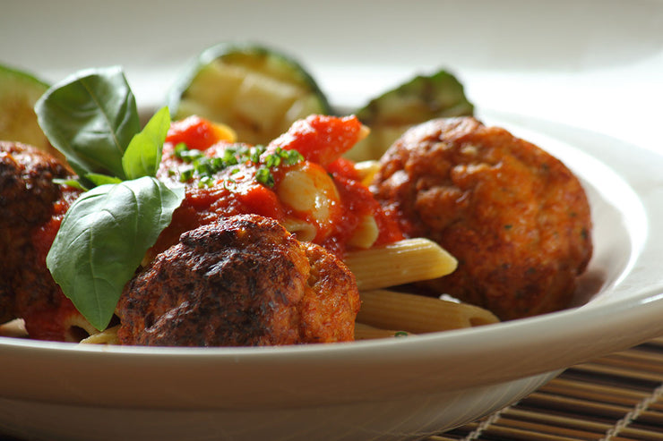 Meatballs with Whole Wheat Pasta