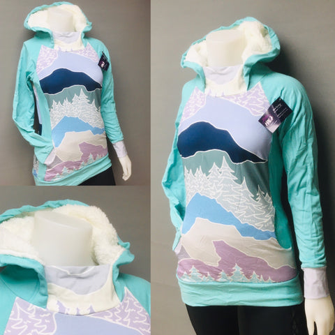 Bailey Hoodie - Pastel Mountains