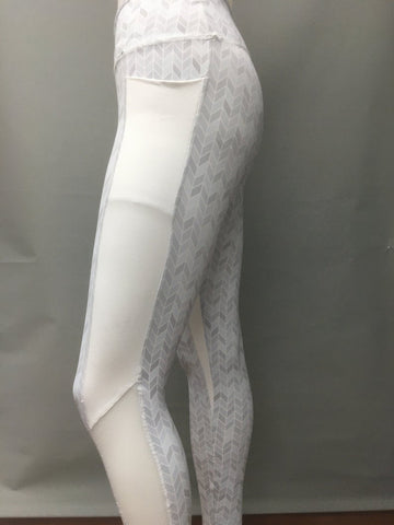 Marathon Leggings - SnowHerringbone