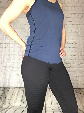 Clara Leggings - SubtleStripe (NotSoBasicBlack Collection)