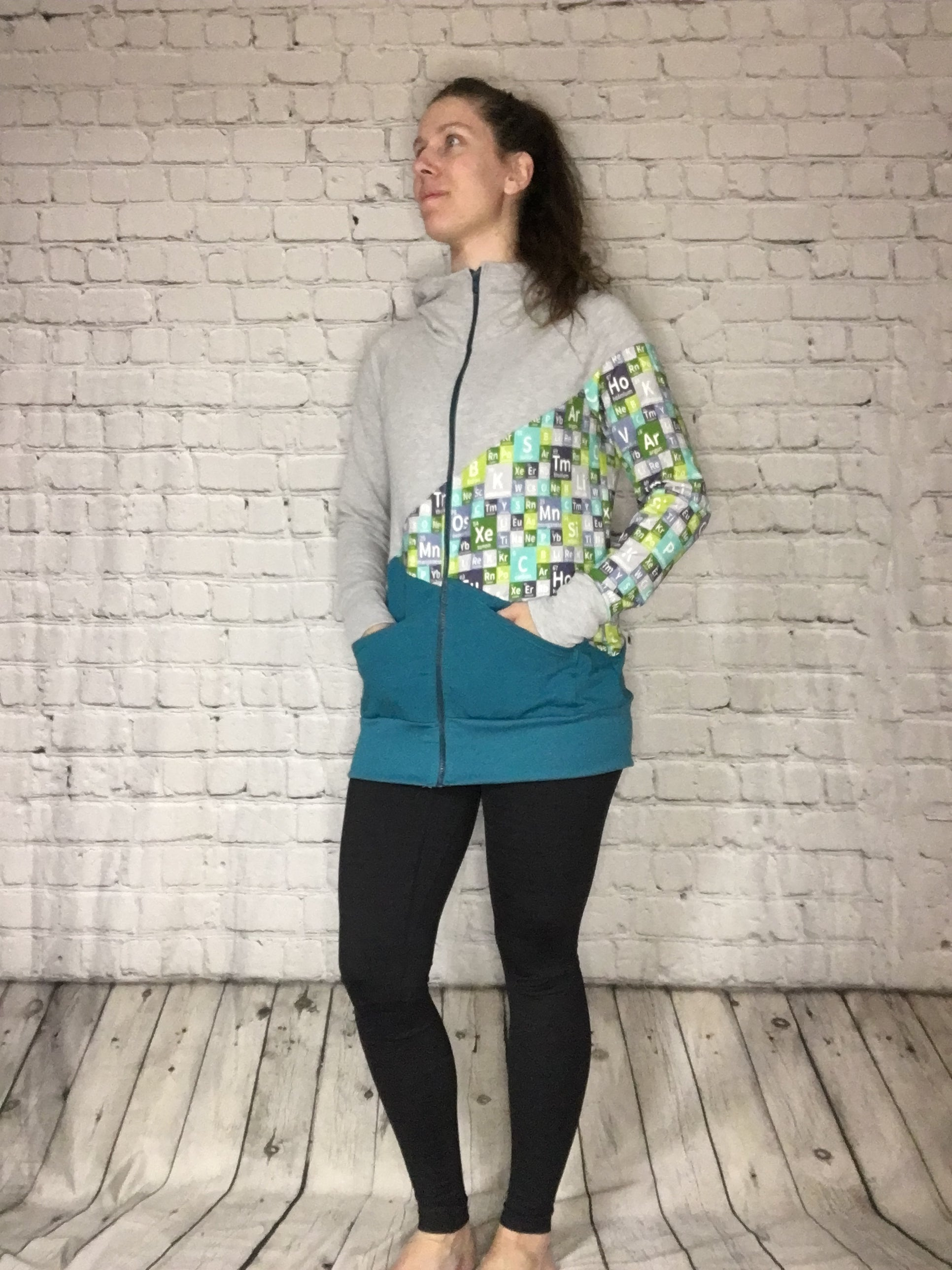 Acute Abstract Panel Hoodie - Spring Periodic - Full Zip