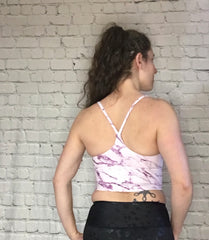 Calin Bralette - Brushed Berry Marble