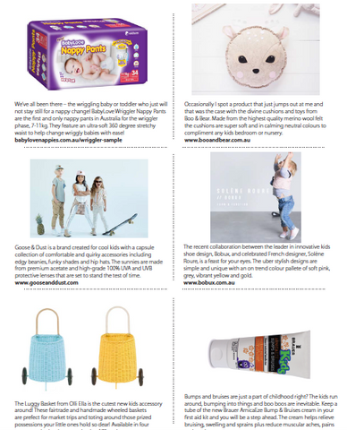 Boo & Bear feature in Kid Magazine - Kids decor, girls room, boys room, nursery, made in Australia