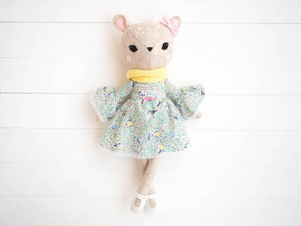 Rosie the Deer doll - Bell sleeve dress - Boo & Bear kids room decor