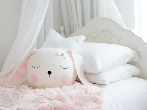 Lulu Bunny cushion - White - Boo & Bear kids room decor
