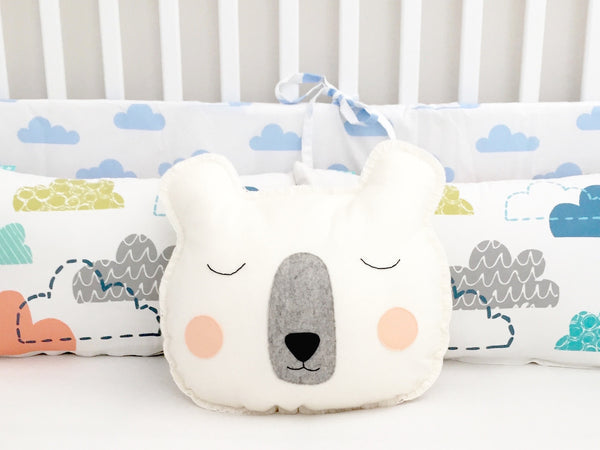 Mr Sleepy bear cushion - Boo & Bear kids room decor