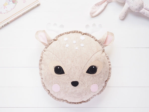 Rosie the deer cushion - Boo & Bear kids room decor