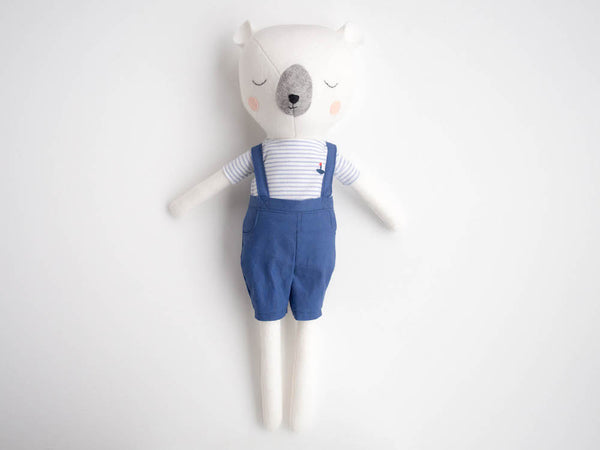Bear Doll - Nautical Navy