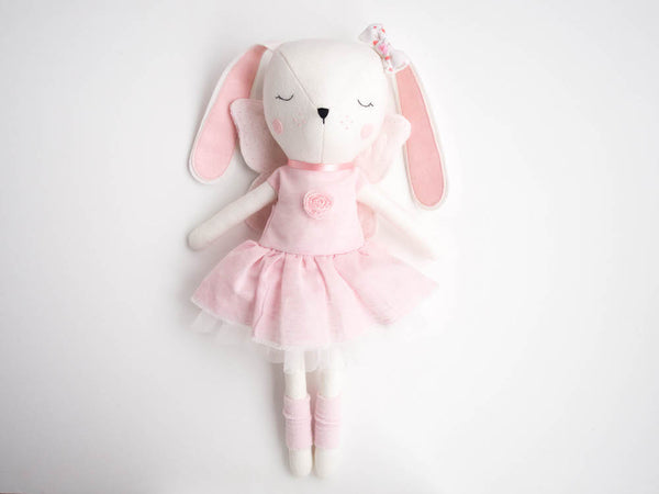 Lulu Bunny Doll - Flower tulle dress - Boo & Bear kids room decor
