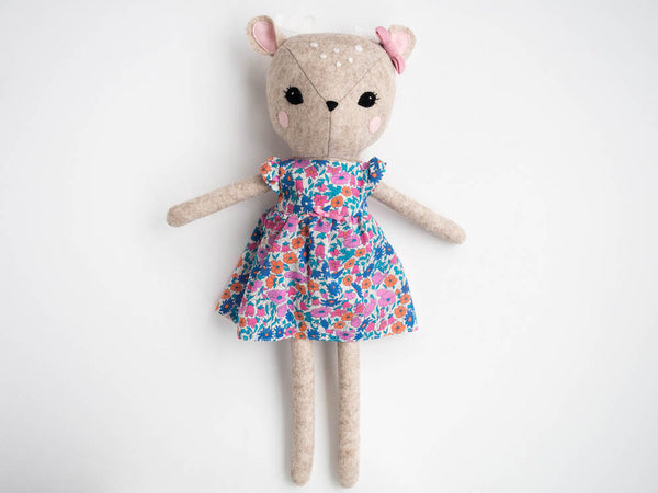 Rosie the Deer doll - Floral - Boo & Bear kids room decor