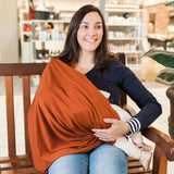 Merino nursing scarf 'Spice', made in New Zealand, designed for breastfeeding.