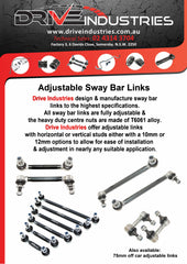 DBR152-27F Heavy duty sway bar 27mm