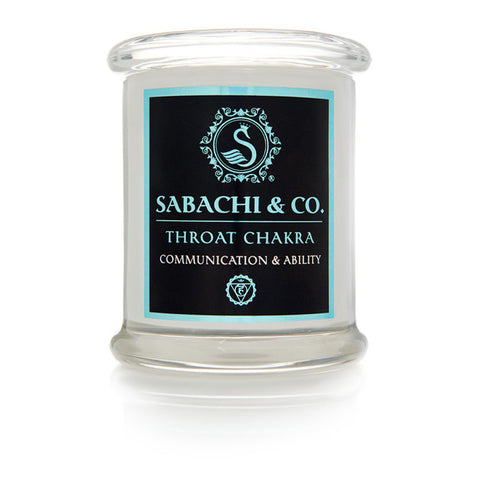 Sabachi & Co Throat Chakra Collection Handmade Soy Candle