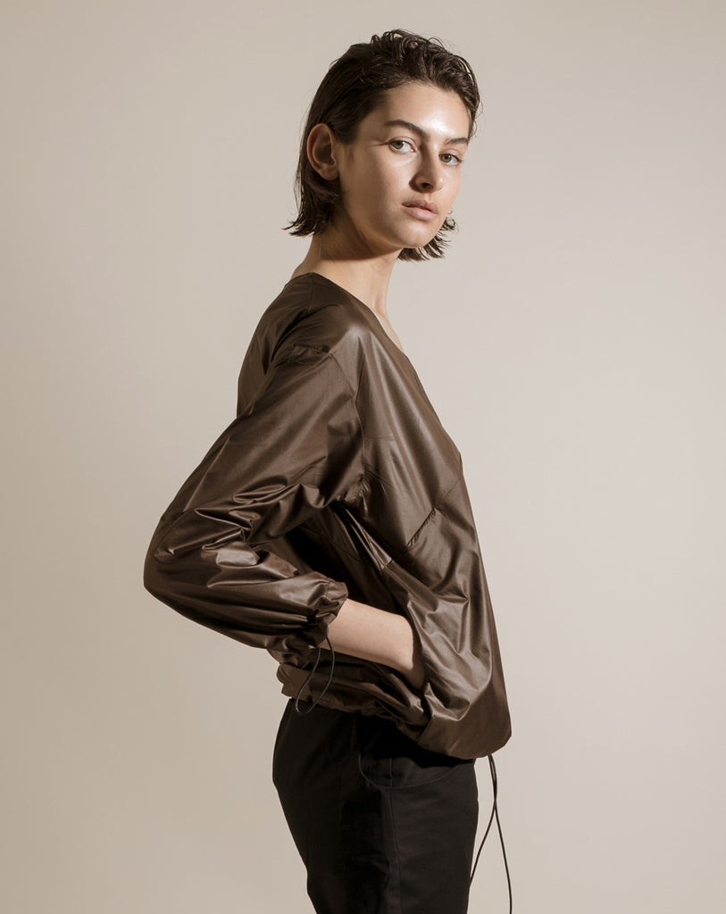 The Nylon Shirt |  Black/Brown