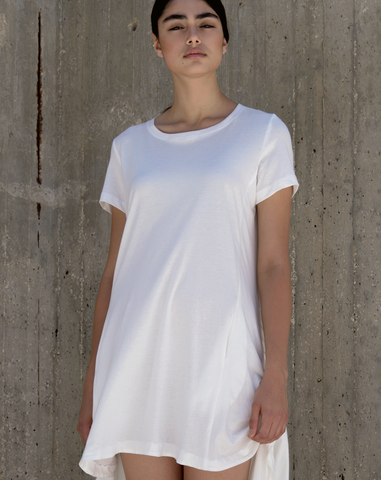 Arcuate Dress | White