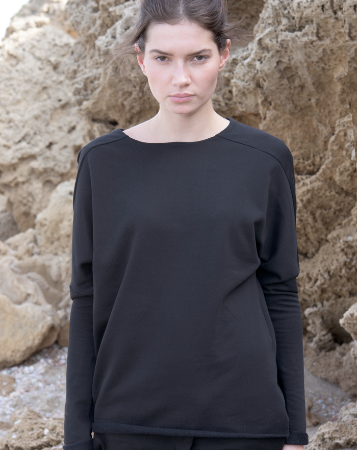 Backfold Sweatshirt | Black