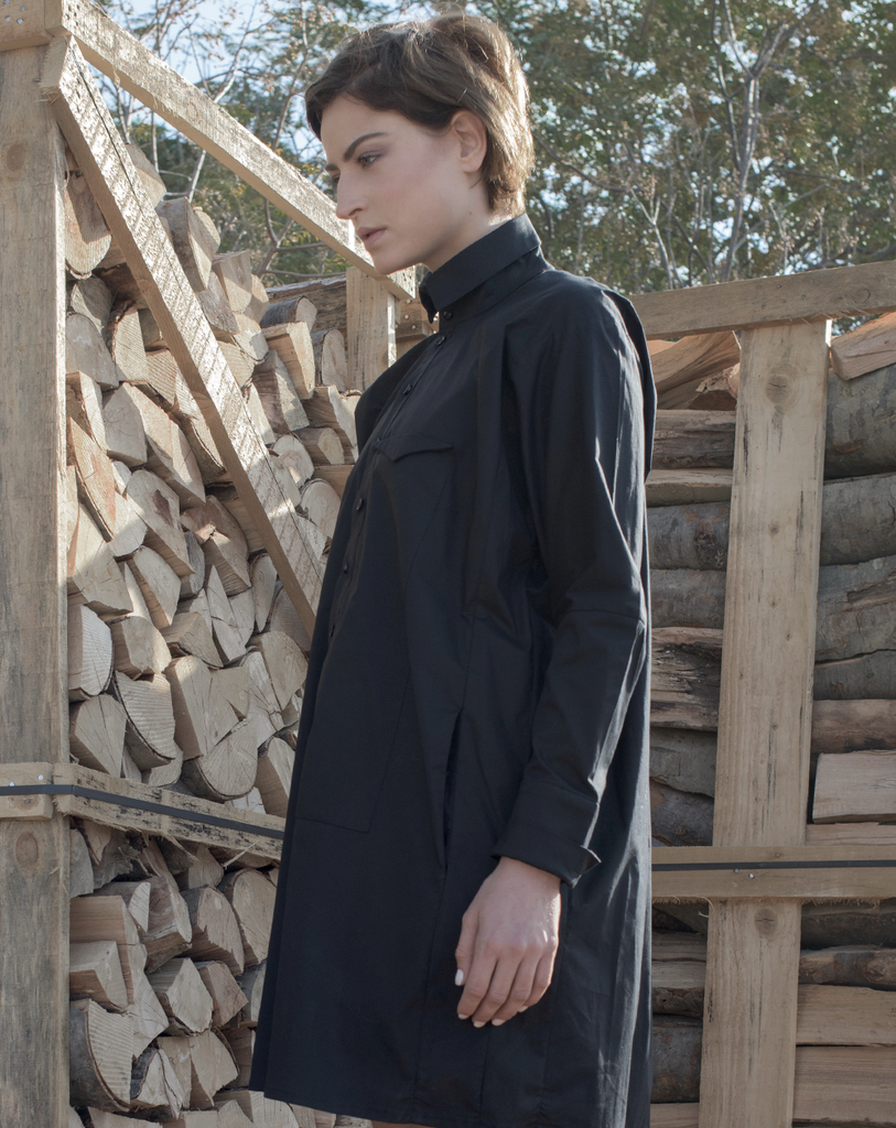 Big Shirt Dress | Black