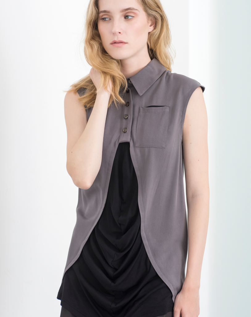 Caldera Blouse | Grey