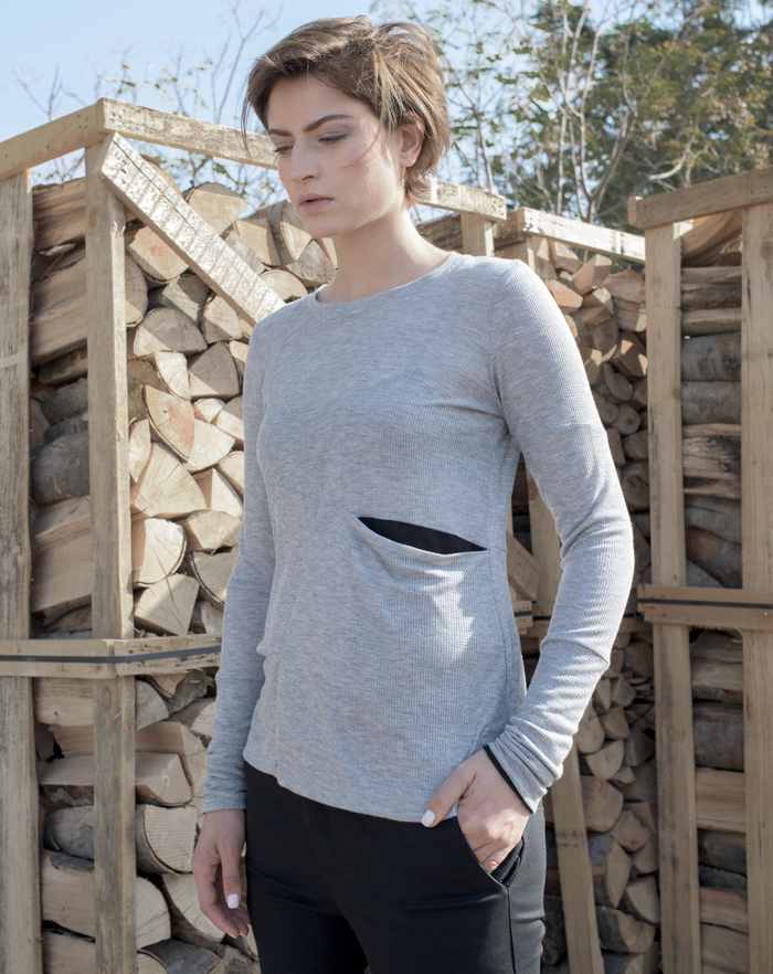 Cross Shirt | Grey