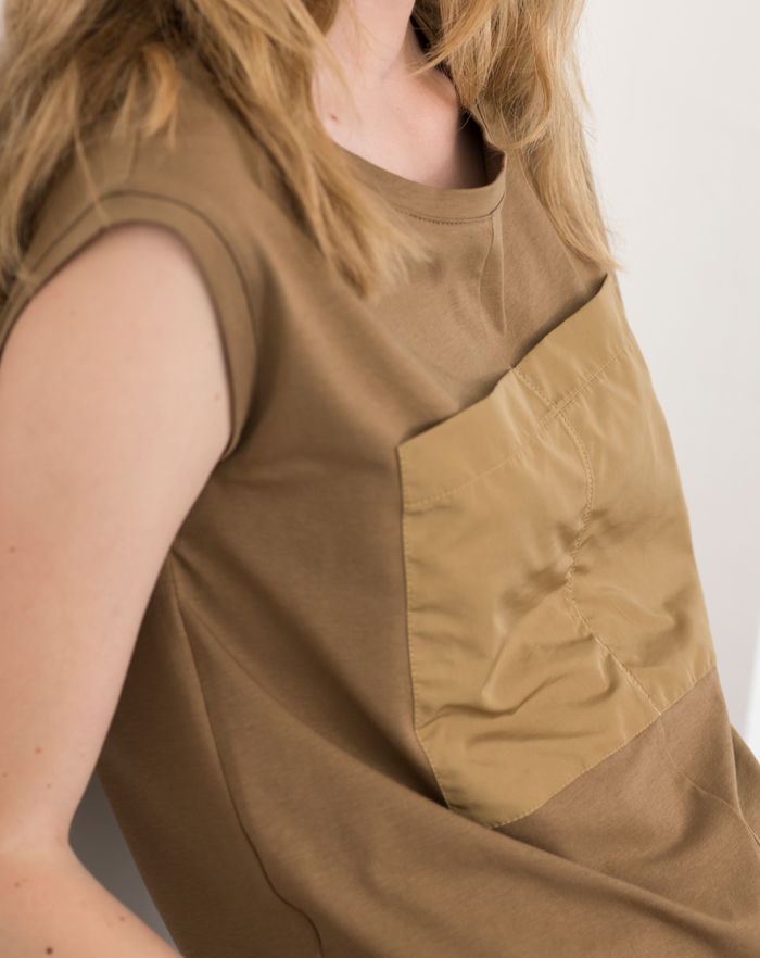 Epicenter Sleeveless Shirt | Brown